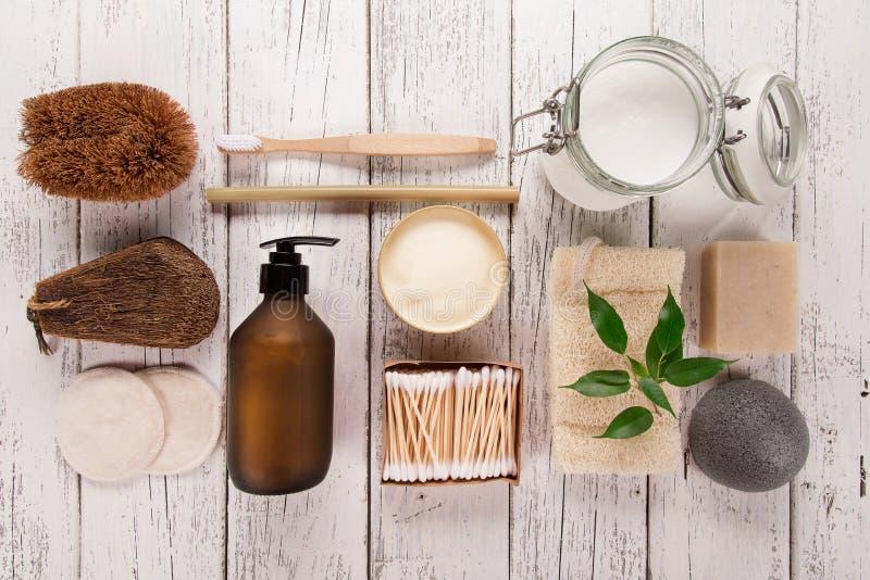 Null überschüssige Versorgungen für persönliche Hygiene Stützbares Lebensstilkonzept stockfotos