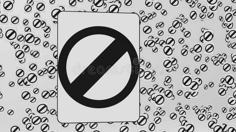 Null Traffic Signs Floating in Space. Null traffic signs floating in empty white space. This image is a 3d illustration vector illustration