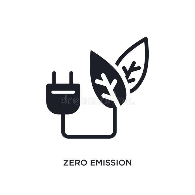 nullemission lokalisierte Ikone einfache Elementillustration von den intelligenten Hauskonzeptikonen Logo-Zeichensymbol der nulle stock abbildung
