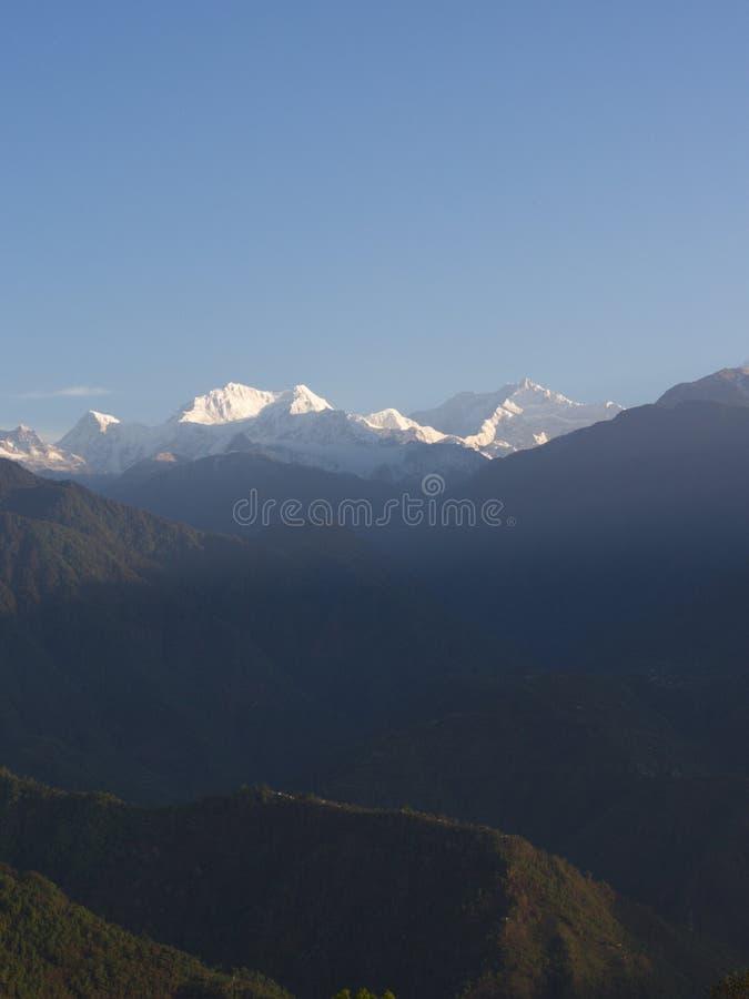 Nullpunkt Sikkim, wo Zivilist-Straße zum Himmel beendet, Sikkim HEREIN stockbilder