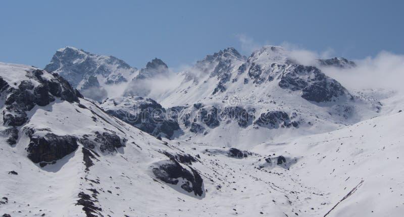 Nullpunkt Sikkim, wo Zivilist-Straße zum Himmel beendet, Sikkim HEREIN stockfoto
