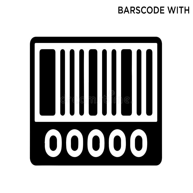 Nulpictogram van de barscode stock illustratie