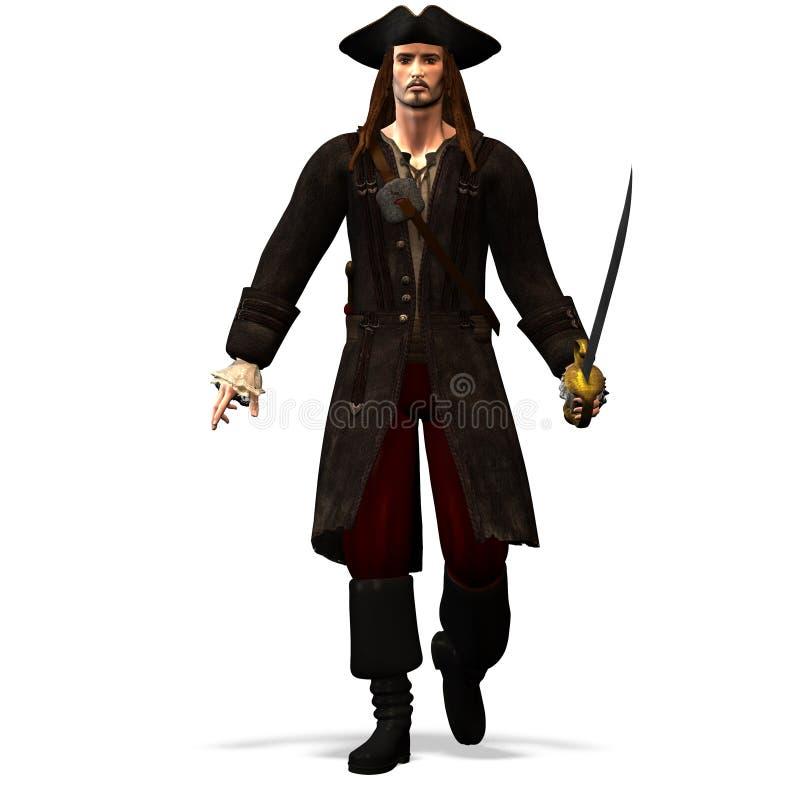 Numéro 1 de pirate illustration stock