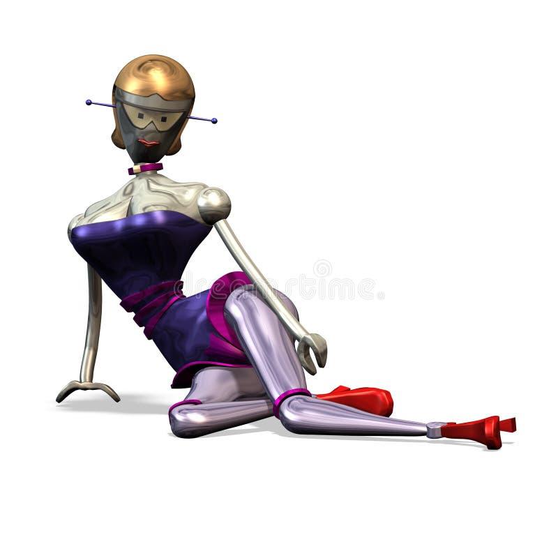 Numéro 11 de robots illustration stock