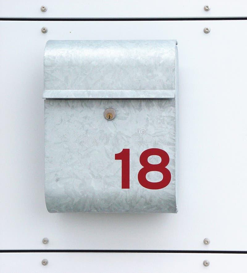 numéro 18 de maison photographie stock libre de droits