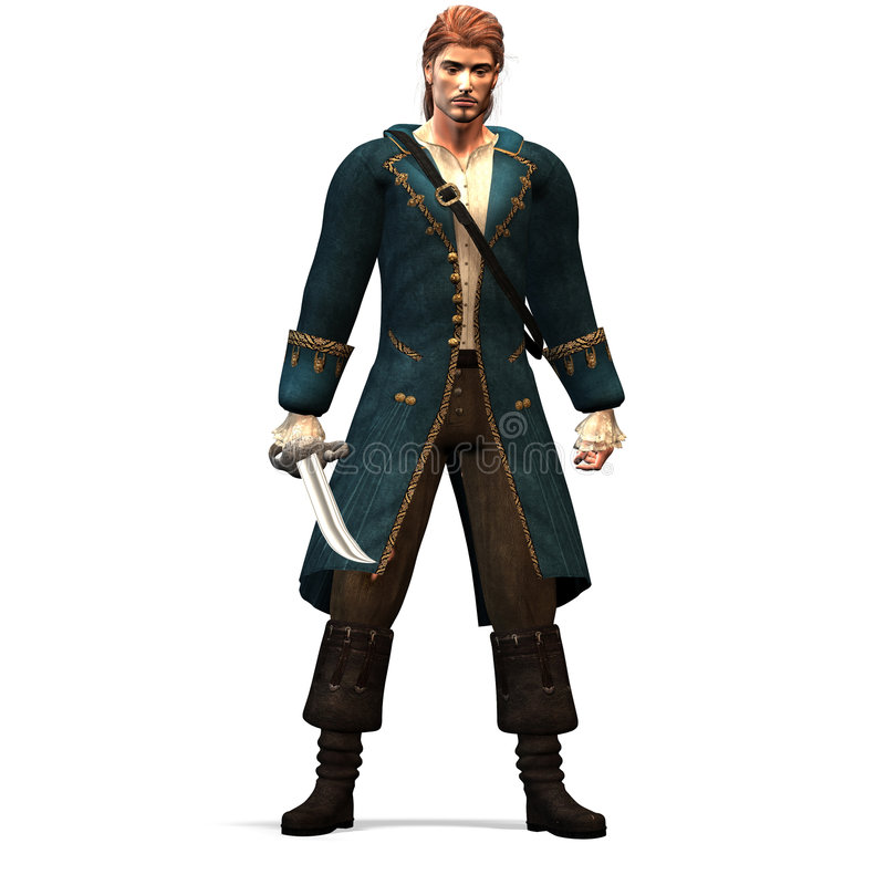 Numéro 2 de pirate illustration libre de droits