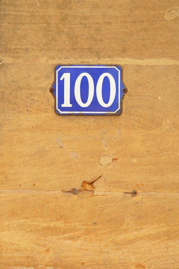 Numéro 100 images stock