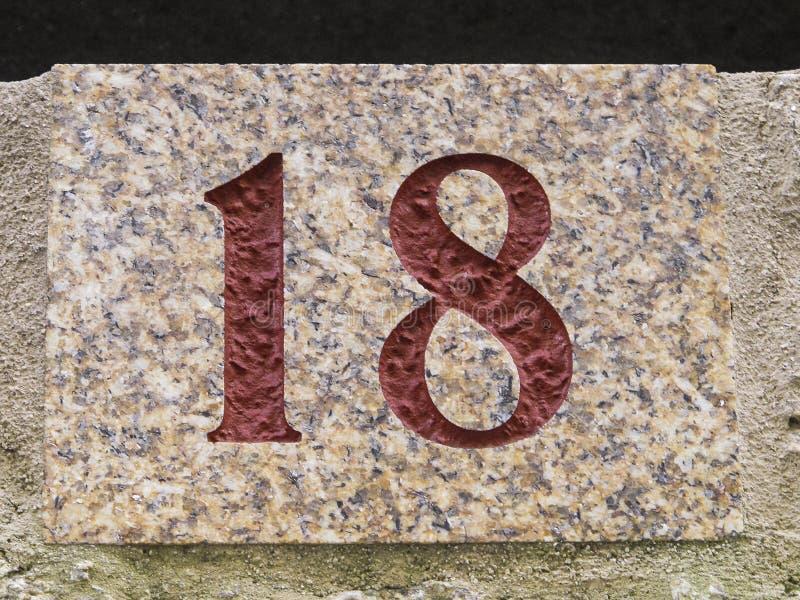Numéro 18 images libres de droits