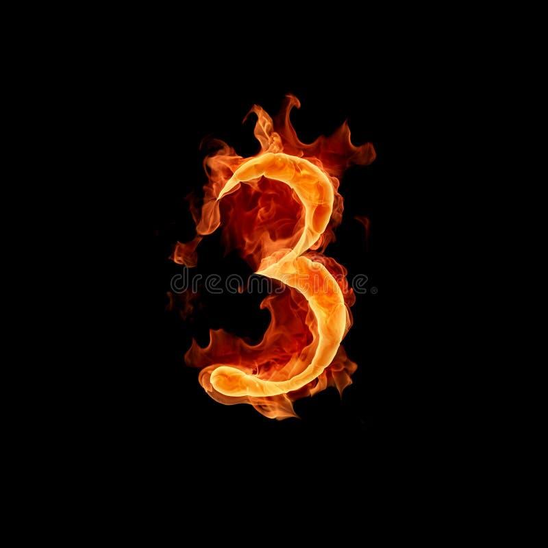 Numéro brûlant 3 illustration libre de droits