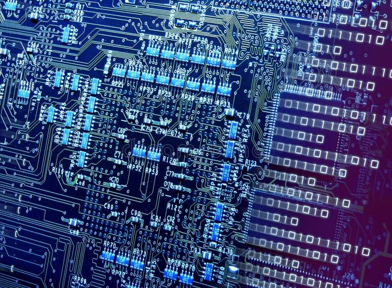 Numéro cassant des circuits de CPU photographie stock libre de droits
