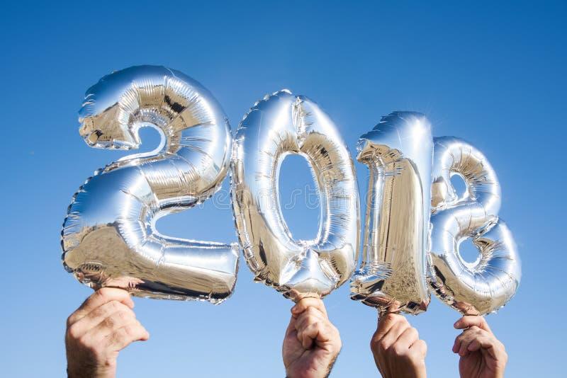 Numéro 2018, comme nouvelle année images libres de droits