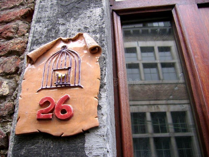 Numéro de maison 26 images stock