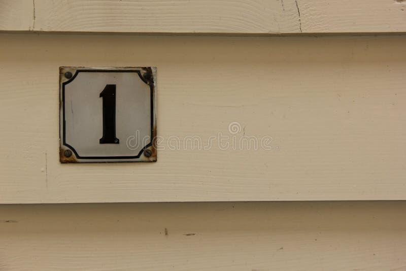 Numéro de maison 1 photos libres de droits
