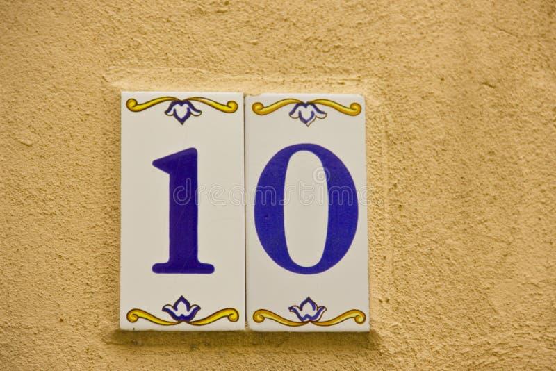 Numéro dix images libres de droits