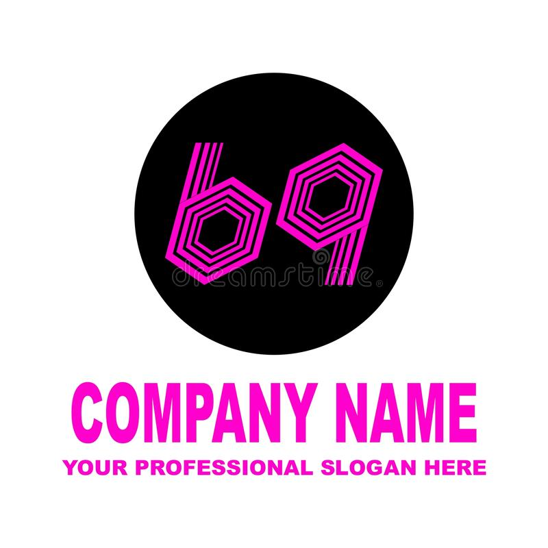 Numéro soixante-neuf Logo simple dans photo stock