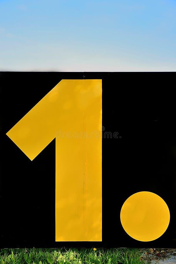 Numéro un… images libres de droits