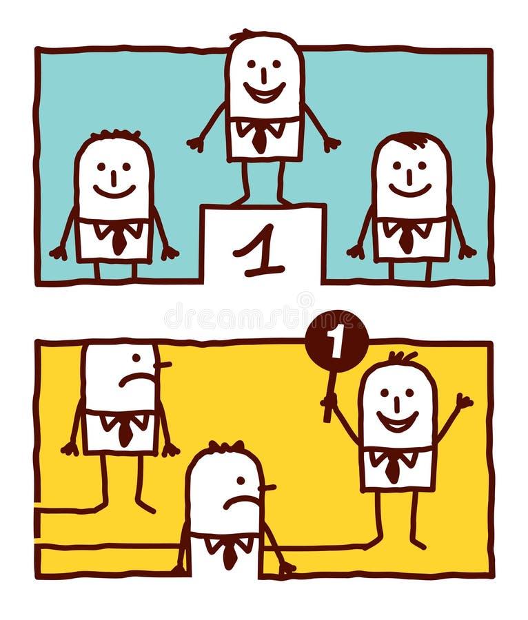 Numéro un et conduite illustration de vecteur