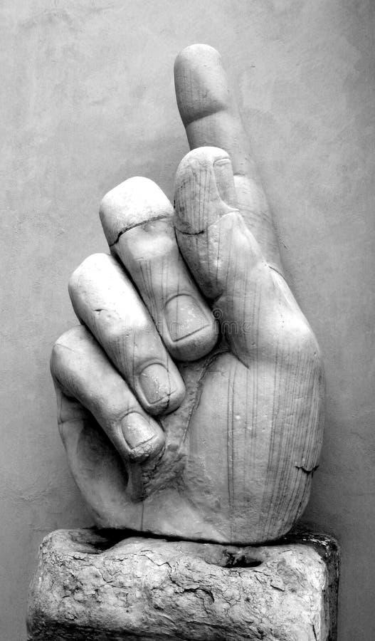 Numéro un/main géante photographie stock