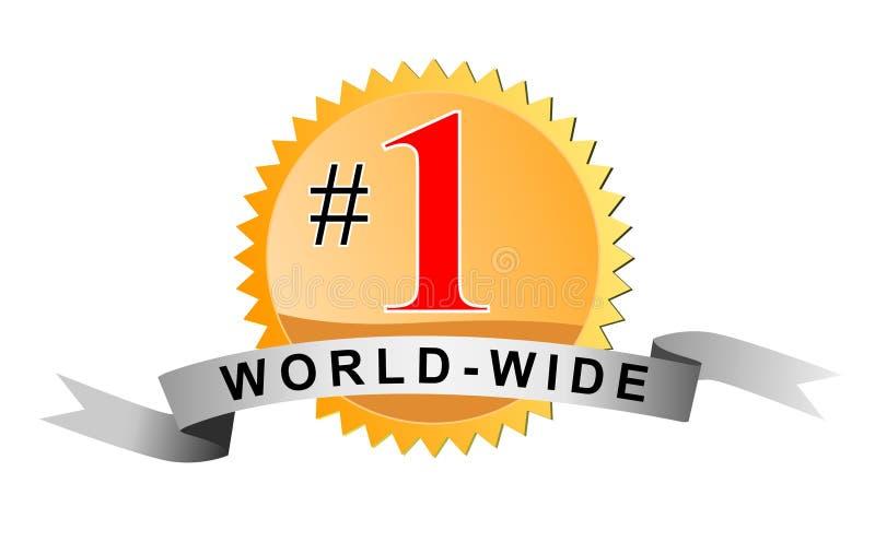Numéro un mondial illustration stock