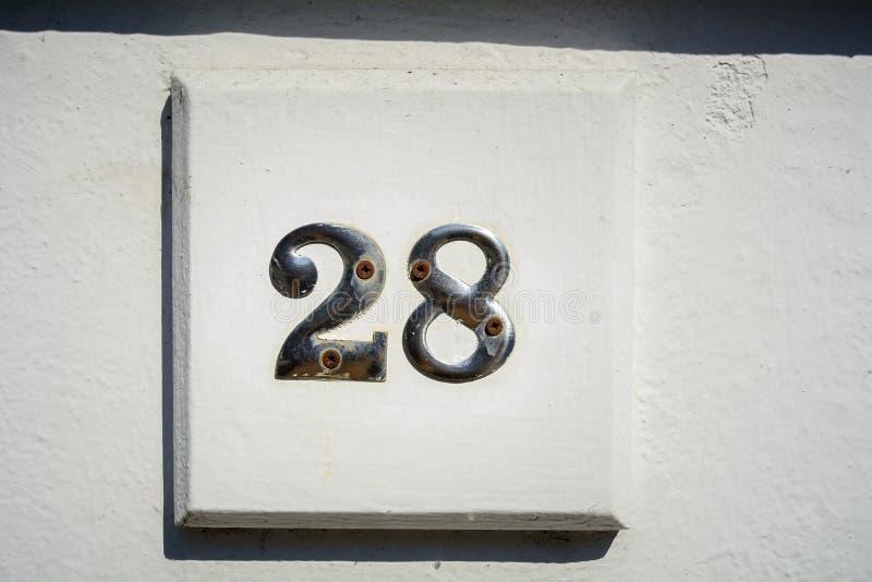 Numéro vingt-huit photographie stock libre de droits