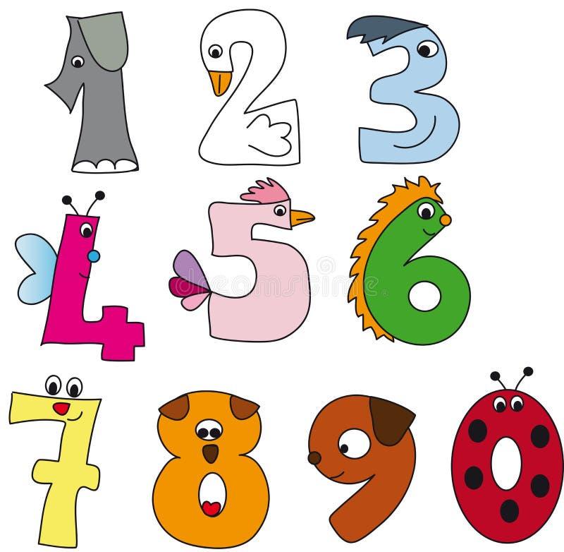 Numéros illustration stock