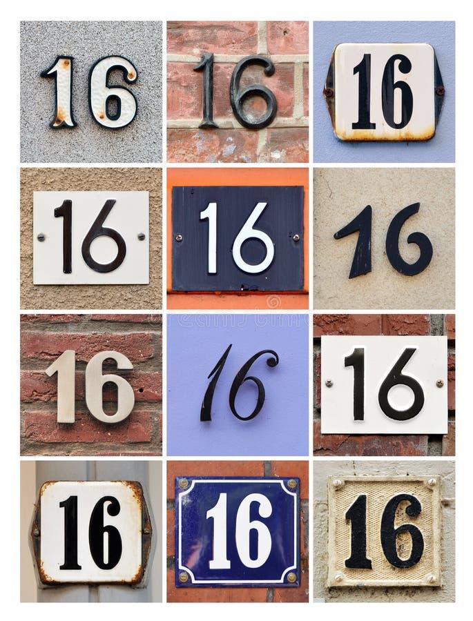 Numéros 16 images libres de droits