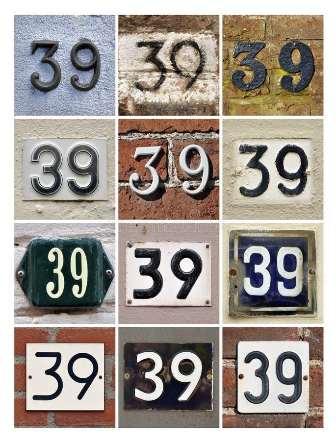 Numéros 39 photos libres de droits
