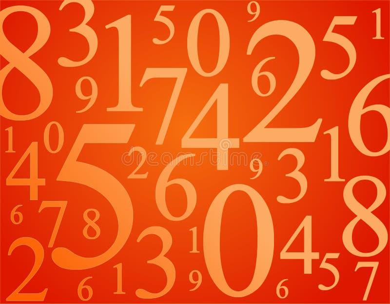 Numéros illustration libre de droits