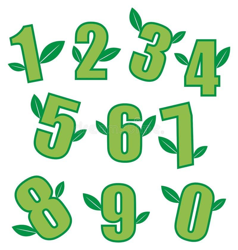 Numéros d'écologie illustration de vecteur
