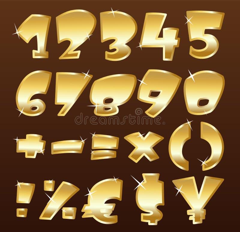 Numéros d'or illustration libre de droits