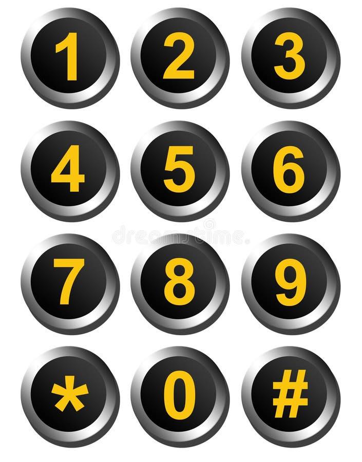 Numéros de cadran illustration libre de droits