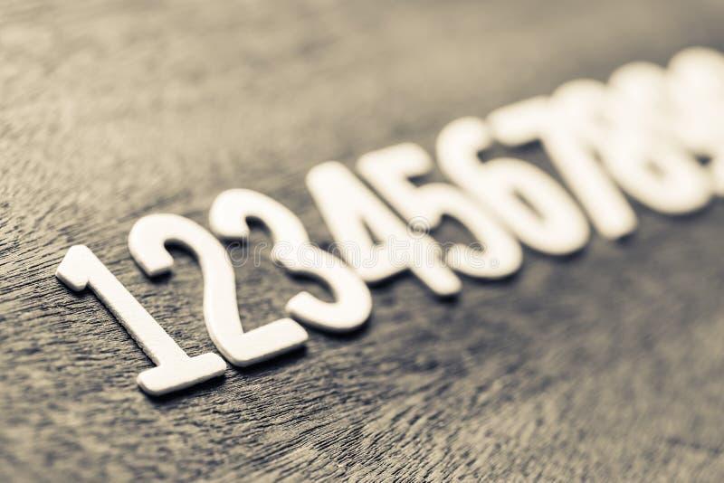 Numéros de commande en bois image libre de droits