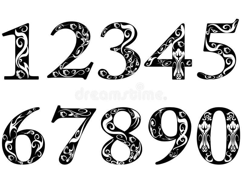 Numéros de configuration illustration stock