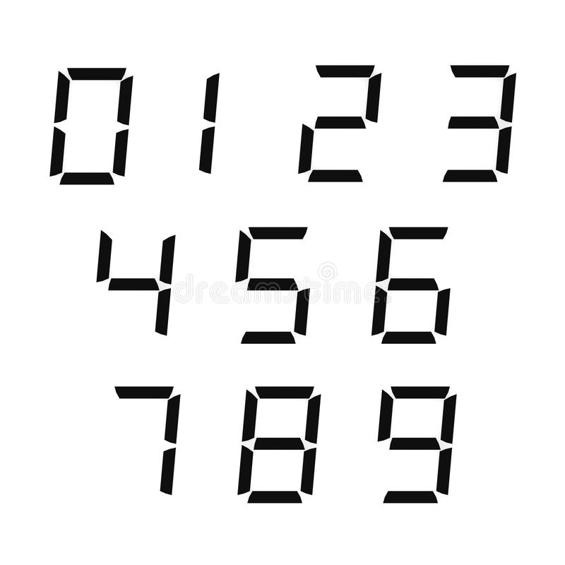 Numéros de Digitals illustration de vecteur