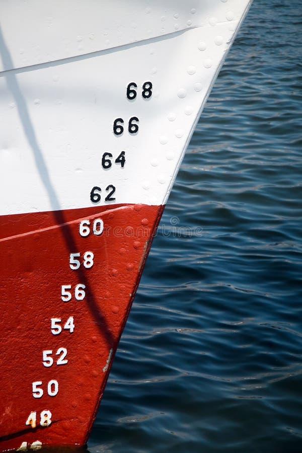 Numéros de jauge de profondeur de bateaux photos libres de droits