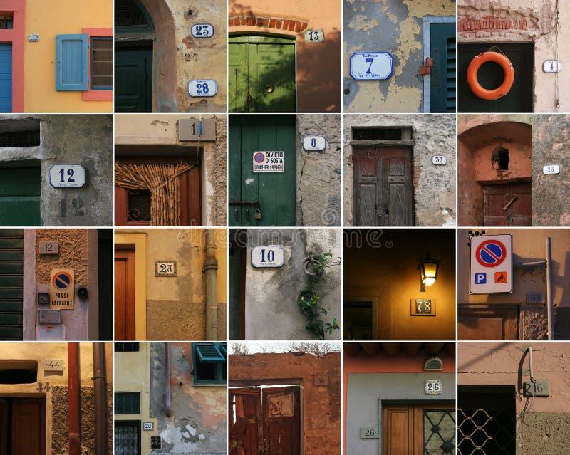 Numéros de la Toscane image stock