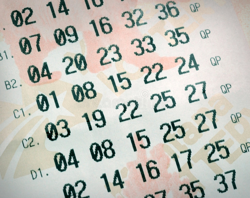 Numéros de loterie image stock