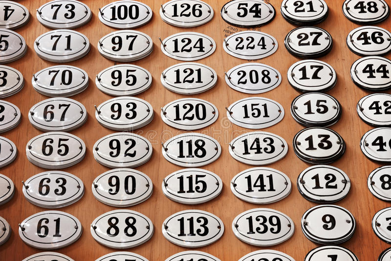 Numéros de numéro photos libres de droits
