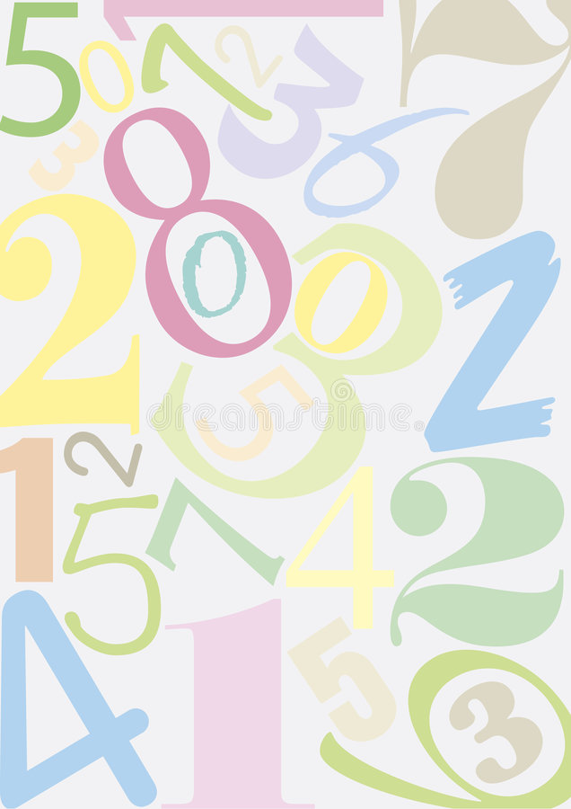 Numéros de Pastell illustration de vecteur