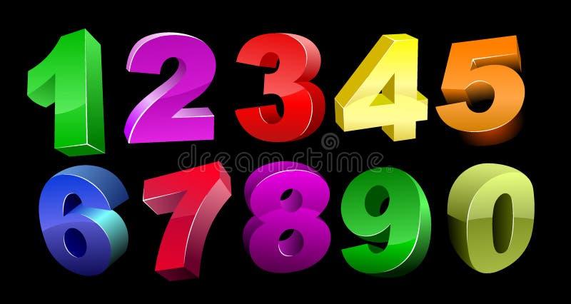 Numéros du vecteur 3d illustration stock