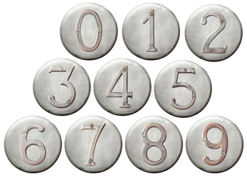 Numéros en métal photo libre de droits