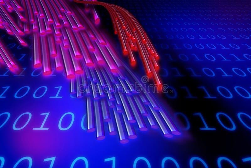 Numéros et connexions illustration stock