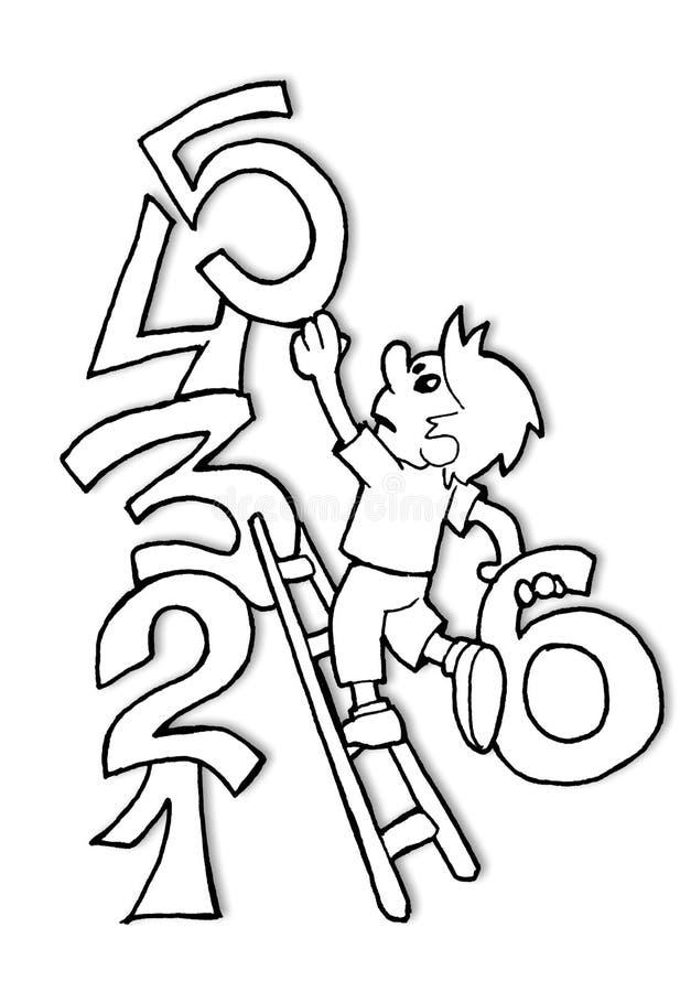 Numéros et gosse illustration libre de droits