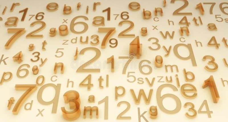 Numéros et lettres illustration libre de droits
