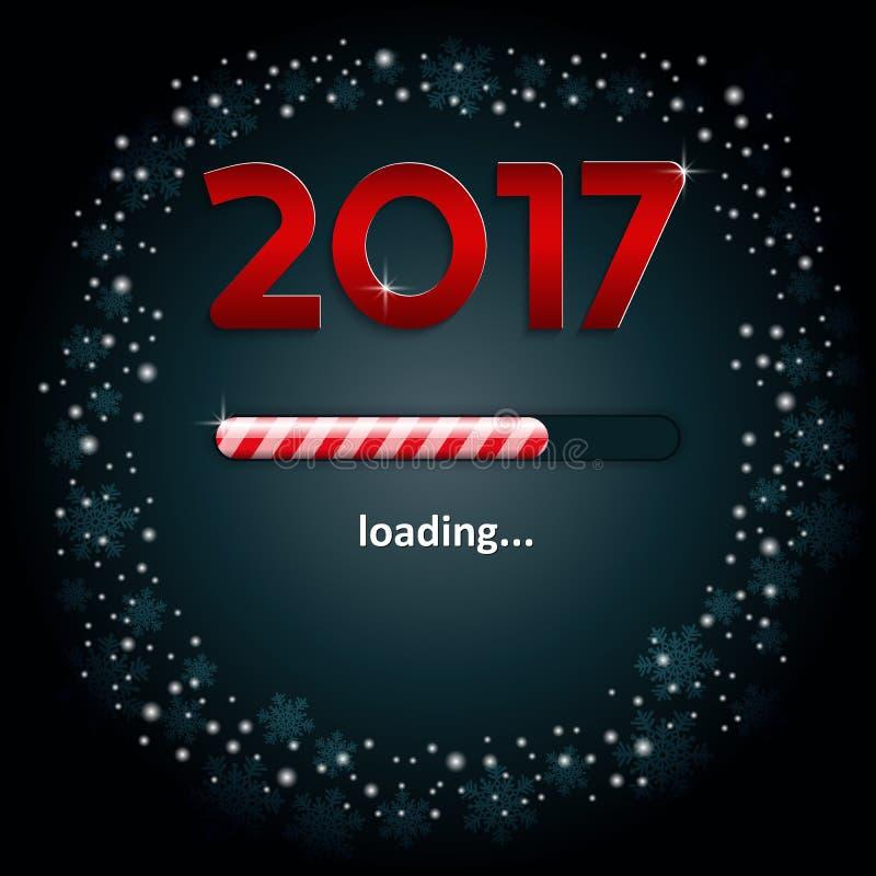 Numéros 2017 et une barre de chargement illustration de vecteur