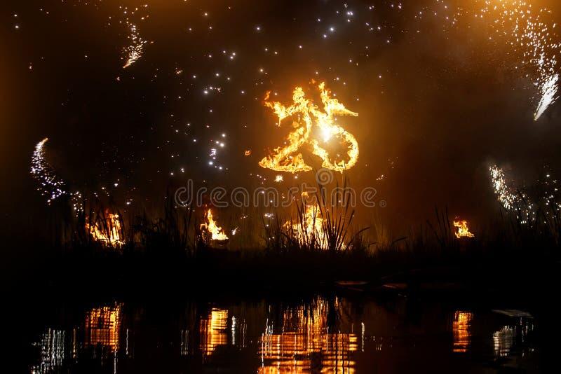 Numéros 25 sur le feu Chiffres brûlants Vingt-cinq photo stock