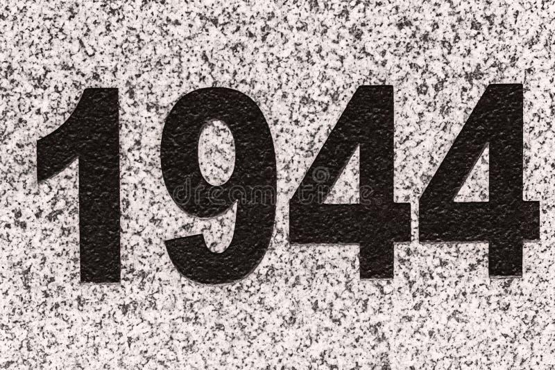 Numéros 1944 sur une dalle de marbre photographie stock