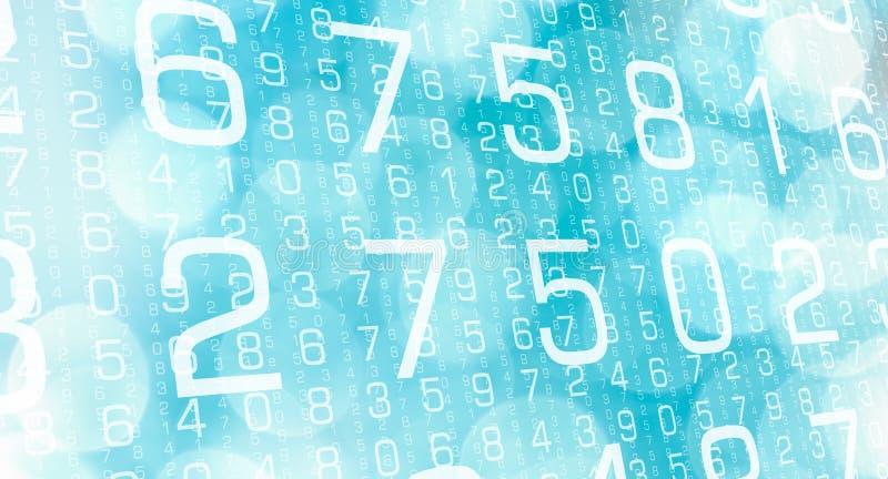 Numérote le symbole de technologie, le travail de scientifique de données illustration de vecteur
