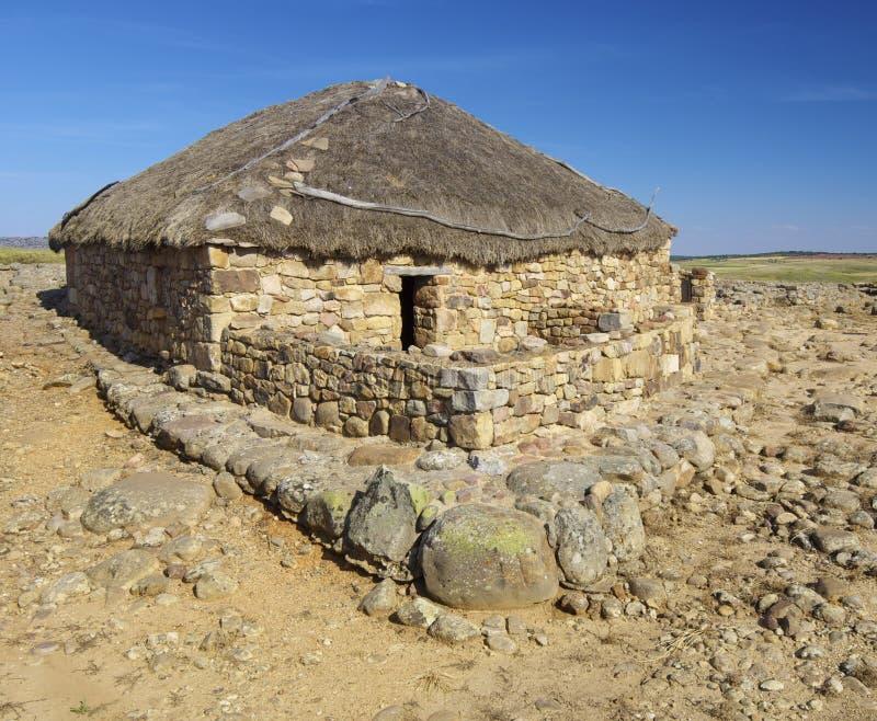 Numancia. Archaeological remains of the ruins of Numancia, Soria, Castilla Leon, Spain royalty free stock photography