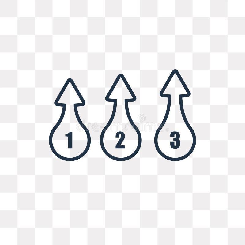 Numbe vectordiepictogram op transparante achtergrond, lineaire Num wordt geïsoleerd vector illustratie